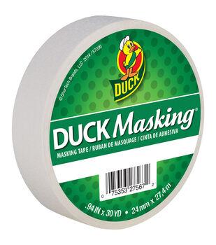 "Duck Masking Tape .94""x30yd-White"