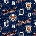 Detroit Tigers Fleece Fabric -Digital