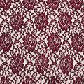 Stretch Lace Knit Fabric-Cabernet