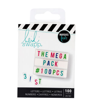 Heidi Swapp Lightbox Mega Pack Inserts-Multicolor Letters & Numbers