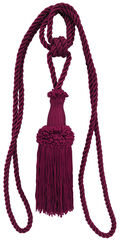 Ss 30in Wine Tieback Knotted Single