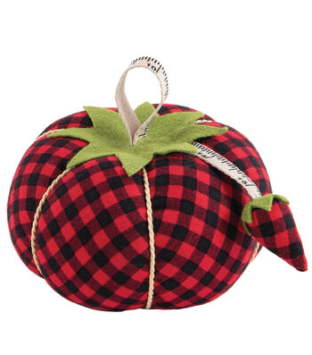 Pincushion-Red & Black Plaid Tomato