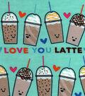 Snuggle Flannel Fabric 42\u0022-Love You Latte