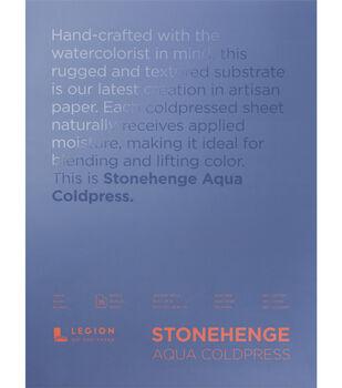 Stonehenge Aqua Coldpress 15-sheet 18''x24'' 140 lbs. Paper Pad-White