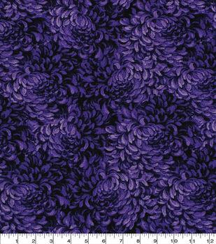 Keepsake Calico Cotton Fabric -Purple Packed Petals