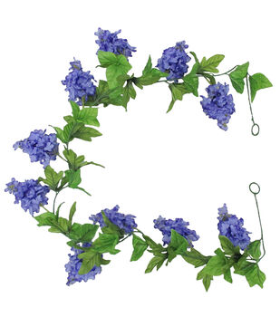 Fresh Picked Spring 66'' Lilac Garland-Purple