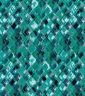 Modern Cotton Fabric 43\u0022-Packed Tonal Triangels Blue