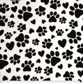 Super Snuggle Flannel Fabric-Paws On White