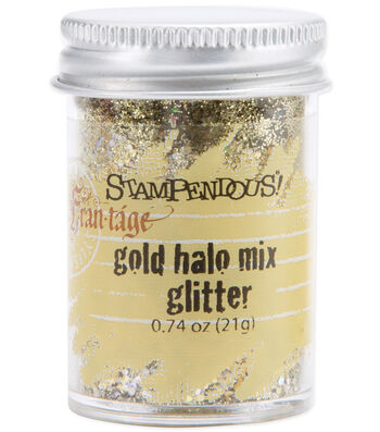 Stampendous Halo Glitter Mix .74 Ounce-Gold