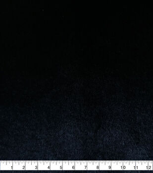 Fashion Faux Fur Fabric-Soft Bear Black