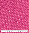 Snuggle Flannel Fabric-Hot Pink Dot