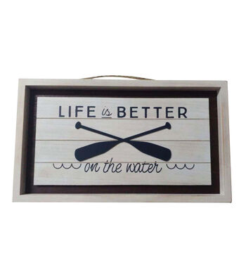 Camp Ann Horizontal Wall Decor-Life is Better on the Water