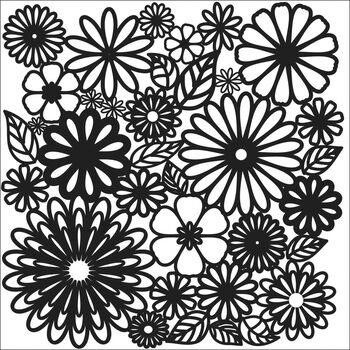 Crafter's Workshop Templates Flower Frenzy