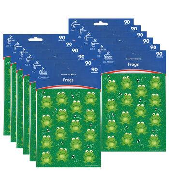 Carson Dellosa Frogs Shape Stickers 12 Packs