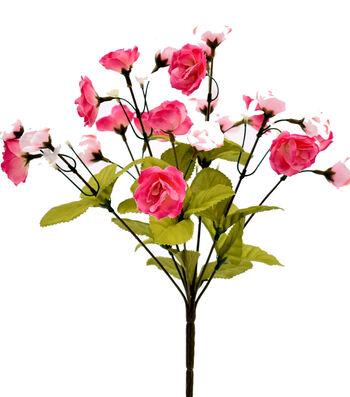 Fresh Picked Spring 15'' Rose Bush-Pink & Fuchsia