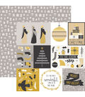 First Noel Double-Sided Specialty Cardstock 12\u0022X12\u0022-Starry