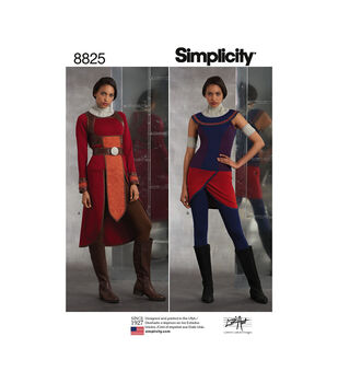 Simplicity Pattern 8825 Misses' Knit Warrior Costumes-Size U5 (16-24)