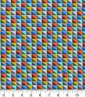 Snuggle Flannel Fabric -Multi Color Blocks