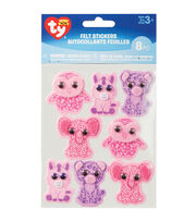 Beanie Boo Felt Stickers-Girl, , hi-res
