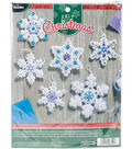 Sparkle Snowflake Ornaments Felt Applique Kit 4\u0022X4\u0022 Set Of 6