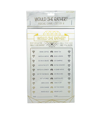 Gold Foil Would She Rather-Set of 8