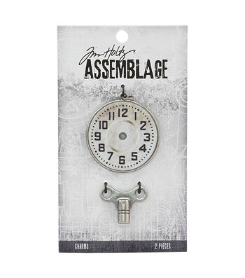 Tim Holtz Assemblage Charms-Clock Key & Timepiece
