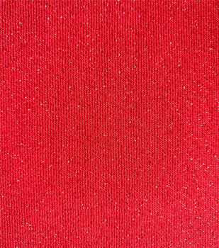 "Holiday Shine Reversible Lurex Knit Fabric 58""-Red"