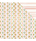 My Minds Eye Bliss 12\u0027\u0027x12\u0027\u0027 Foiled Double-Sided Cardstock-Heartfelt