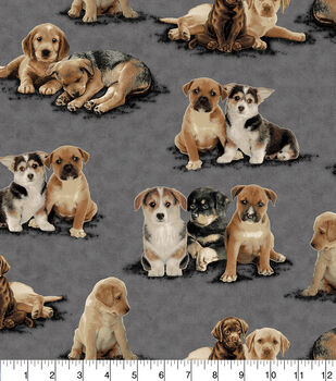 Super Snuggle Flannel Fabric-Photo Real Pups