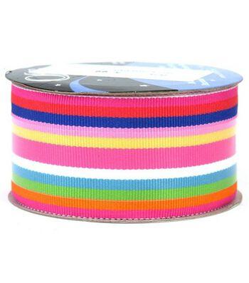 "Offray Roman Stripe 1-1/2""-3 Yds-Cotton Candy"