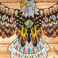 1 Yard Fabric Panel-Eagle