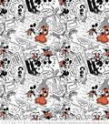 Disney Mickey & Minnie Fleece Fabric 59\u0022-Prince Micky & Princess Minnie