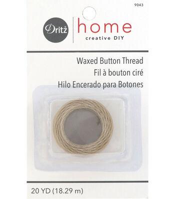 Dritz Home Waxed Button Thread 20 Yds Natural