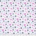 Nursery Flannel Fabric -Madison Dot Print