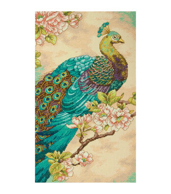 Dimensions Counted Cross Stitch Kit Indian Peacock