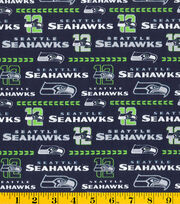 Seattle Seahawks Cotton Fabric -Glitter, , hi-res