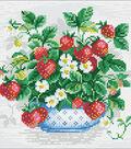 RIOLIS Diamond Mosaic Embroidery Kit 10.75\u0022X10.75\u0022-Strawberries