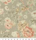 Waverly Upholstery Fabric 54\u0022-Among the Roses Bloom