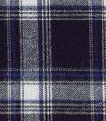 Flannel Shirting Fabric -Navy, White & Cobalt