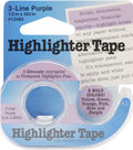 Highlighter Tape .5\u0022X393\u0022-Purple