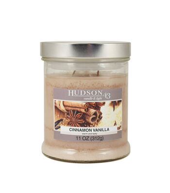 Hudson 43 Candle & Light Collection 11oz Vanilla Cinnamon Jar