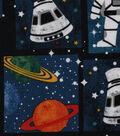 Novelty Cotton Fabric 44\u0022-Astronaut Patch