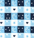 Nursery Flannel Fabric 42\u0027\u0027-Love You to the Moon and Back Patch