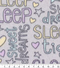 Blizzard Fleece Fabric-Pastel Dream Words