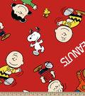 Peanuts Cartoon Fleece Fabric -Gang Dancing