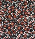 Apparel Knit Fabric 57\u0022-Burgundy & Black Floral