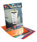 Metallic Paper 8-1/2\u0022X11\u0022 16 Sheets/Pkg-Assorted Colors