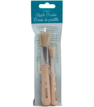 Tsukineko Stipple Brushes 2pk-#4 & #0