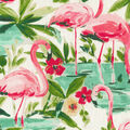 Waverly Upholstery Decor Fabric 9x9 Swatch-Floridian Flamingo In Bloom
