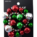 hildie & jo Holiday Charm Bracelet-Green & Red Bell